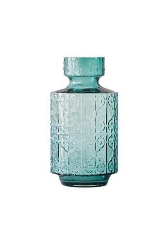 DILAS HOME Vintage Oriental Glass Vase - Big 557A0HL0EDE0A9GS_1