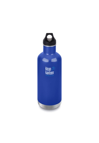 Klean Kanteen blue Klean Kanteen Insulated Classic Water Bottle 32Oz (with Loop Cap)(Coastal Waters) 1F0ABACFB72445GS_1