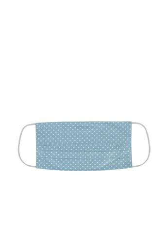 MAYONETTE blue MAYONETTE Masker Kain Premium Cotton 2 Ply + Kawat Hidung Nose Wire Bisa Diisi FIlter - 12 Pcs - Polkadot Blue 1B3FCESBB7CDCCGS_1