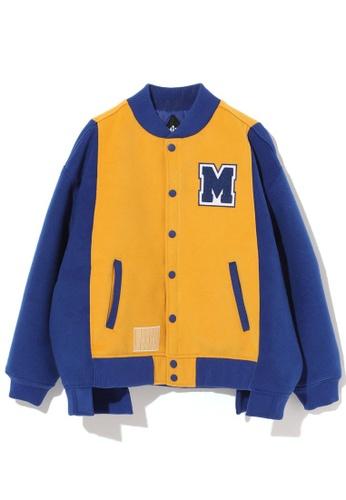 Mini cream blue Colour block varsity jacket 5F435AAAB81BDCGS_1