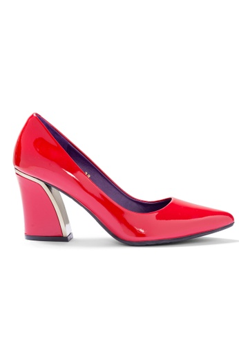 Shu Talk red Elegant Patent High Heel Pointed Toe Pumps 31E62SH95C09B2GS_1