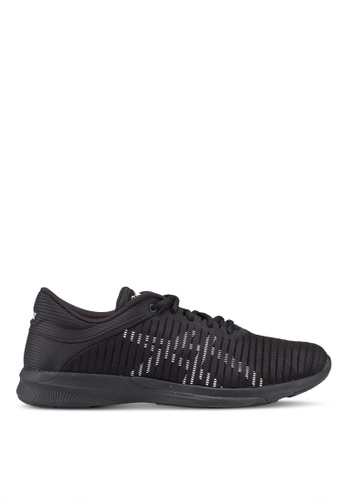Asics black Fuzex Rush Adapt Shoes 8E91FSHC66FBBCGS_1