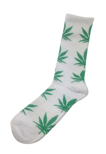 Splice Cufflinks Glee Series Green Leaf White Socks SP744AA27PEUSG_1