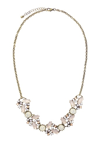 LUCCACAL pink Lissandra Statement Necklace FBD8FACF7CF1D1GS_1