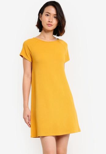 ZALORA yellow Essential Raglan Sleeve Shift Dress A99A8AA0093423GS_1