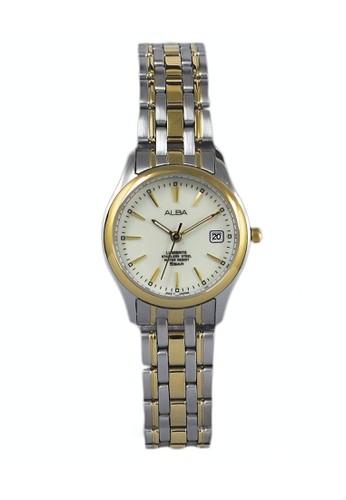 Alba silver ALBA Jam Tangan Wanita - Silver Gold Ivory - Stainless Steel - AXT854X1 7DA16ACDB71E69GS_1