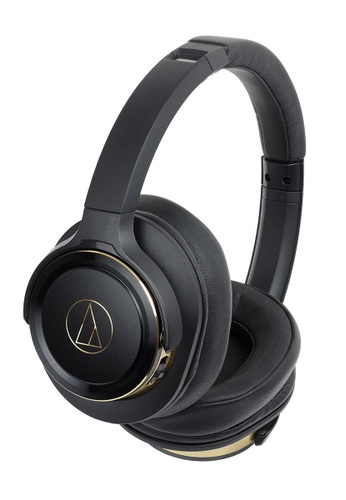 Audio Technica gold Audio Technica ATH-WS660BT Wireless Solid Bass Headphone - Black/Gold 0EFF9ESF7D58B2GS_1