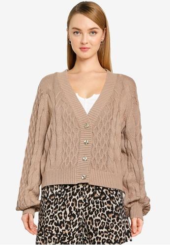 Vero Moda beige Rachel Short V-Neck Cardigan 1B950AA8561699GS_1