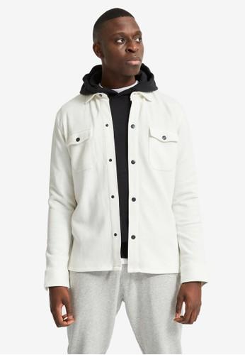 Selected Homme beige Organic Jacket 771F8AABA94E8FGS_1