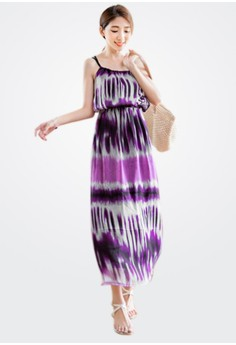 Exotic Tie Dye Maxi Dress