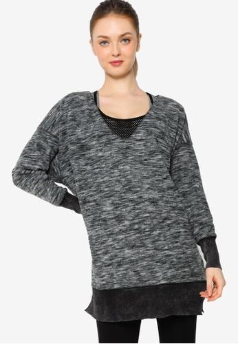 Lorna Jane black Delphine Oversized Sweater 5FB12AA3DC40DBGS_1