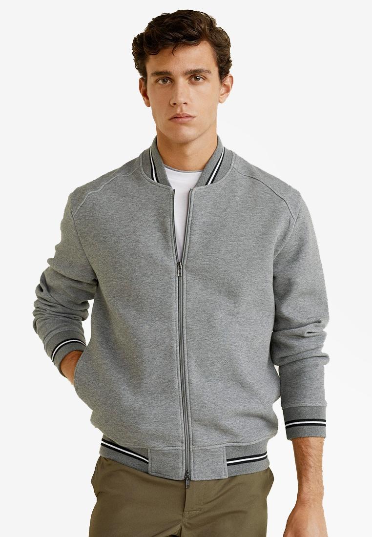 Grey College MANGO Man Jacket Bomber BxZFnc6n