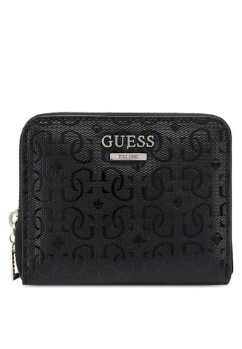 GUESS black Blane Sling Small Zip Around Wallet 3912CACEF27742GS_1