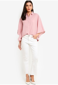 5fd0f4c1272 24% OFF ZALORA Craftan Shirt RM 95.00 NOW RM 71.90 Sizes XS S M L XL · LOST  INK PLUS black Plus Size Square Neck Top With Buttons 9FE46AA56E0C27GS 1
