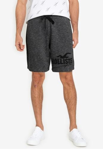 Hollister black Tech Logo Shorts 4D678AA001DA38GS_1