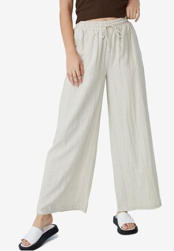 Cotton On beige Daydreamer Wide Leg Pants 67654AA47A0AB2GS_1