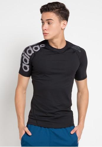 adidas black Adidas Alphaskin Sport Shortsleeve Tee Bos A4C06AA6A7B2D3GS_1