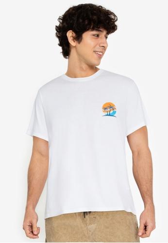 ZALORA BASICS white Sunset T-Shirt 8EE17AA6856EA3GS_1