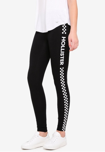 Hollister black Jersey Graphic Leggings 856AFAA3CCE403GS_1