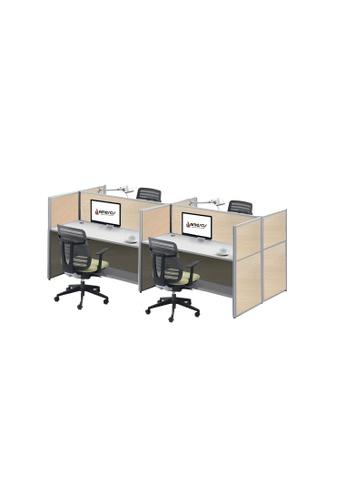 AMERCIS white Amercis Stamford 1200L Workstation for 4 A11F0HL0BA02BDGS_1