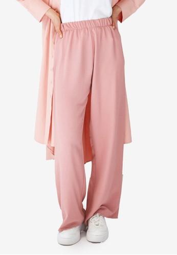 Trendyol pink Basic Wide Legs Trousers 4E22DAA9D28833GS_1