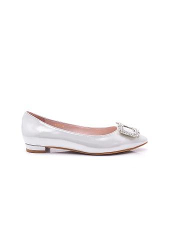Elisa Litz silver Janiee Flats (Silver) 57FAESH7FABF4BGS_1