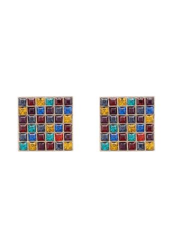 MANGO black Bead Square Earrings 9EAE5AC50E899FGS_1