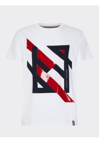 Tommy Hilfiger Tommy Hilfiger Deconstructed Stripe Relaxed Fit T-Shirt F8D3DAA5F71F8CGS_1