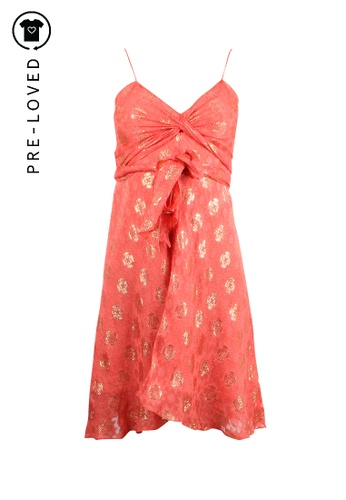 Milly orange Pre-Loved milly Coral Dress 7FB5EAA03B6E44GS_1