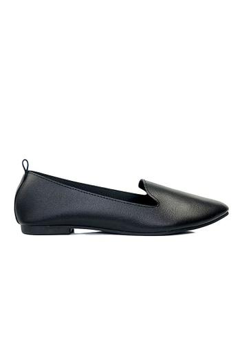 SHINE black SHINE Simple Classic Point Toe Loafers 0A59ASH074B815GS_1