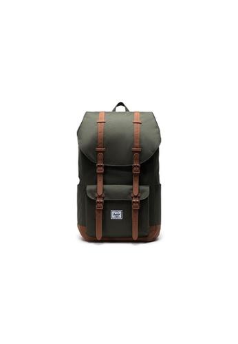 Herschel green Herschel Little America - Forest Night Backpack 4BF8AACA2097DEGS_1