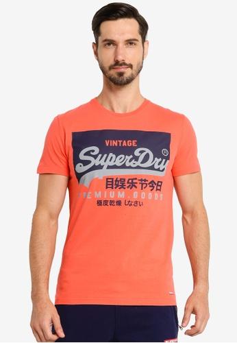 Superdry pink Vl O Tee 0DC09AA34B71CDGS_1