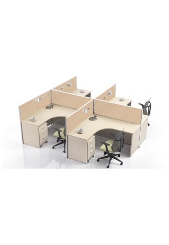 AMERCIS white Amercis Stamford F-Shaped Workstation for 4 91860HLA9872D6GS_1