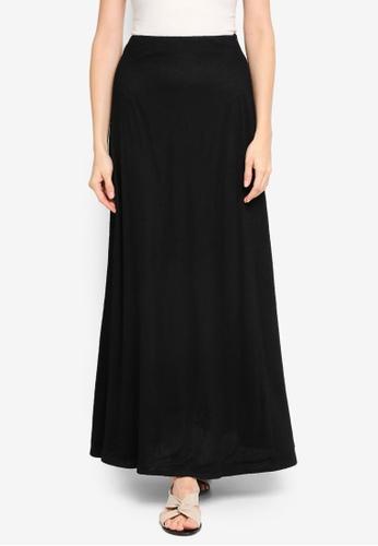 Zalia black Lace Asymmetric Panel Skirt 31EFEAA0F4D4ECGS_1