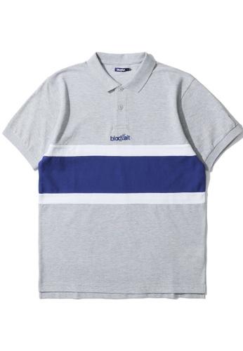 BLOCKAIT grey Logo polo shirt C6C67AA19B910EGS_1