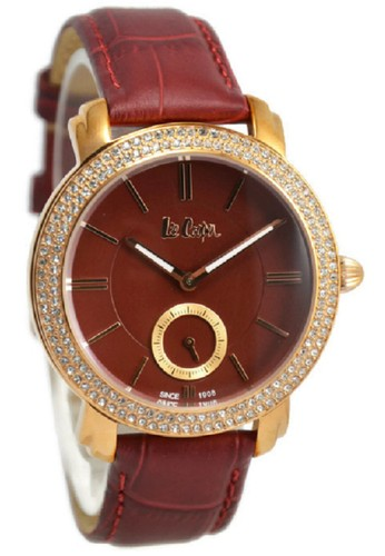 Lee Cooper Watches. Lee Cooper Jam Tangan Wanita Merah Rosegold Leather Strap LC-20L-H
