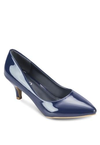 漆皮尖esprit hong kong頭高跟鞋, 女鞋, 厚底高跟鞋