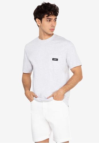 H&M grey Chest-Pocket T-Shirt 5A9B1AAA8D5C72GS_1