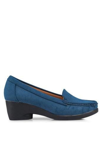NOVENI navy Loafer Style Wedges CCFC5SHA04E83BGS_1