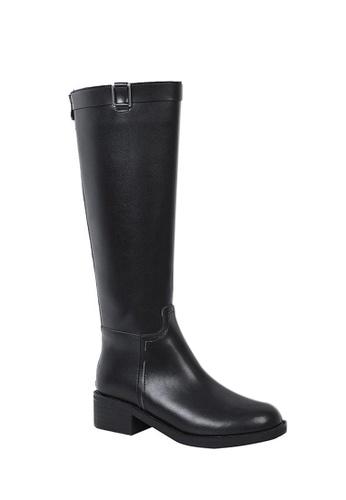 Twenty Eight Shoes black Faux Leather Riding Boots 525 D3B9ESHFFD4F7FGS_1