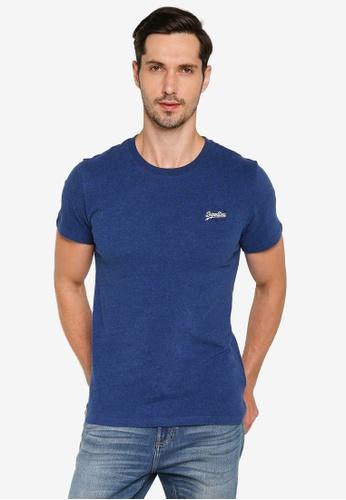 Superdry blue Organic Cotton Vintage Embroidery T-Shirt - Original & Vintage 2149CAA615070EGS_1