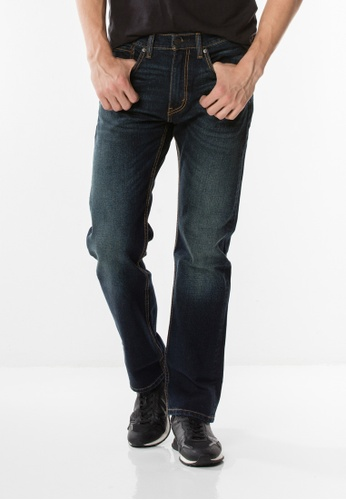 Levi's blue 505™ Regular Fit Stretch Jeans LE843AA0GFYQSG_1