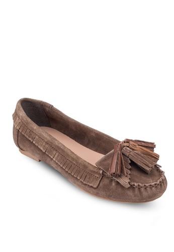 Lenesprit香港門市no 流蘇牛皮莫卡辛鞋, 女鞋, 鞋