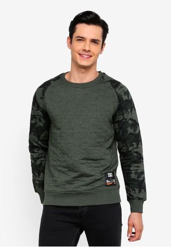 Jack & Jones green Jaque Crew Neck Sweatshirt BB4F0AAEE35DADGS_1