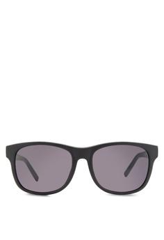 85c8d666d6 Boss Orange black Trendy Faceted Temple Sunglasses BO434GL92HRRMY 1