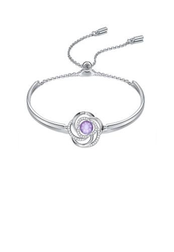 Glamorousky white Elegant Fashion Camellia Flower Bracelet with Austrian Element Crystal FF25AAC7DA1E54GS_1