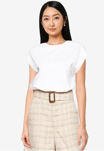 Heather white Knit T-shirt 8EFDBAAF525582GS_1