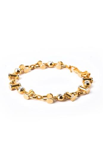 TOMEI gold TOMEI Bracelet, Yellow Gold 916 (9M-BR3778-1C-18cm) 4096DAC0BDD00AGS_1
