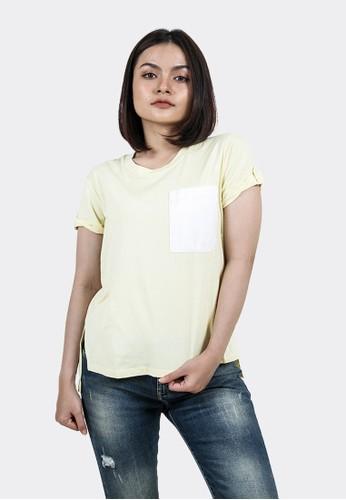 FLIES yellow Kaos lengan pendek wanita A12724F YELLOW 037A2AA2BA50F3GS_1