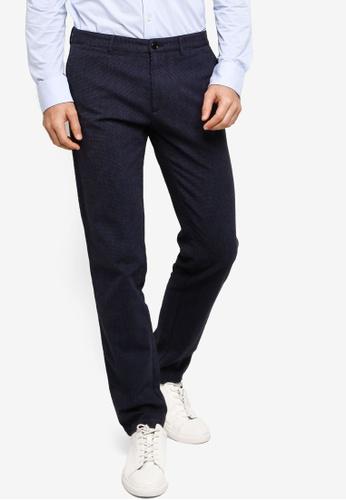 BOSS blue Crigan3 Micro Dobby Chino Pants AD939AA3562F92GS_1